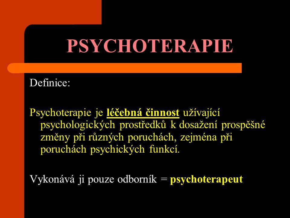 PSYCHOTERAPIE Definice: