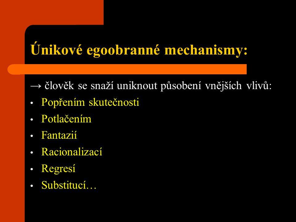 Únikové egoobranné mechanismy:
