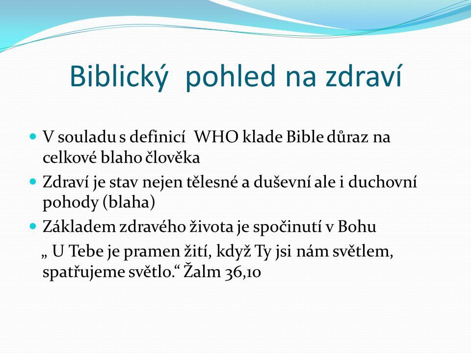 Biblický pohled na zdraví
