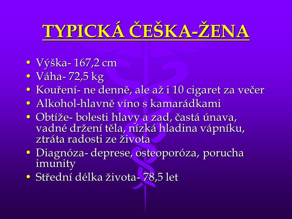 TYPICKÁ ČEŠKA-ŽENA Výška- 167,2 cm Váha- 72,5 kg