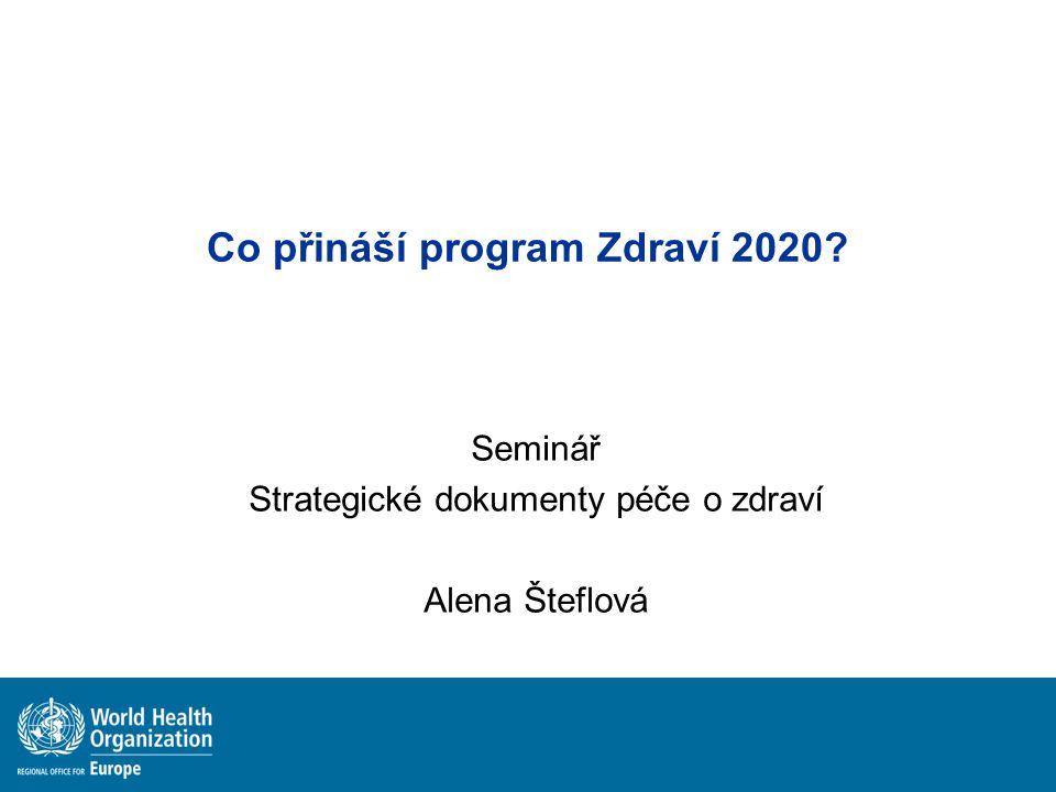 Co přináší program Zdraví 2020