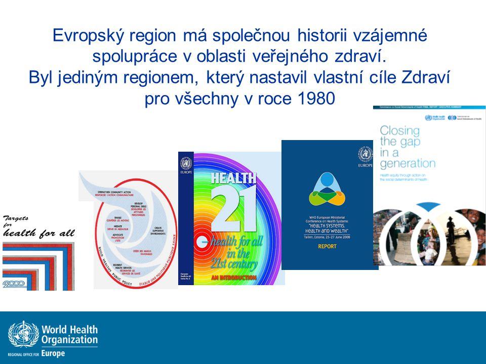 Evropský region má společnou historii vzájemné spolupráce v oblasti veřejného zdraví.