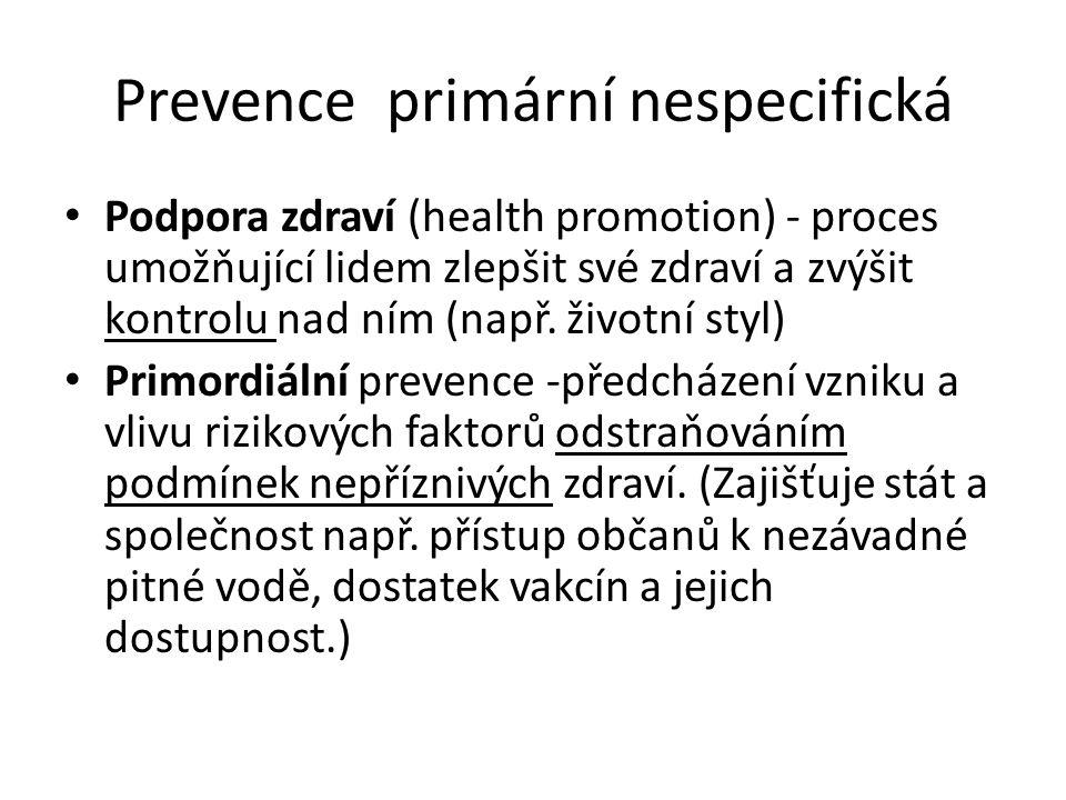 Prevence primární nespecifická