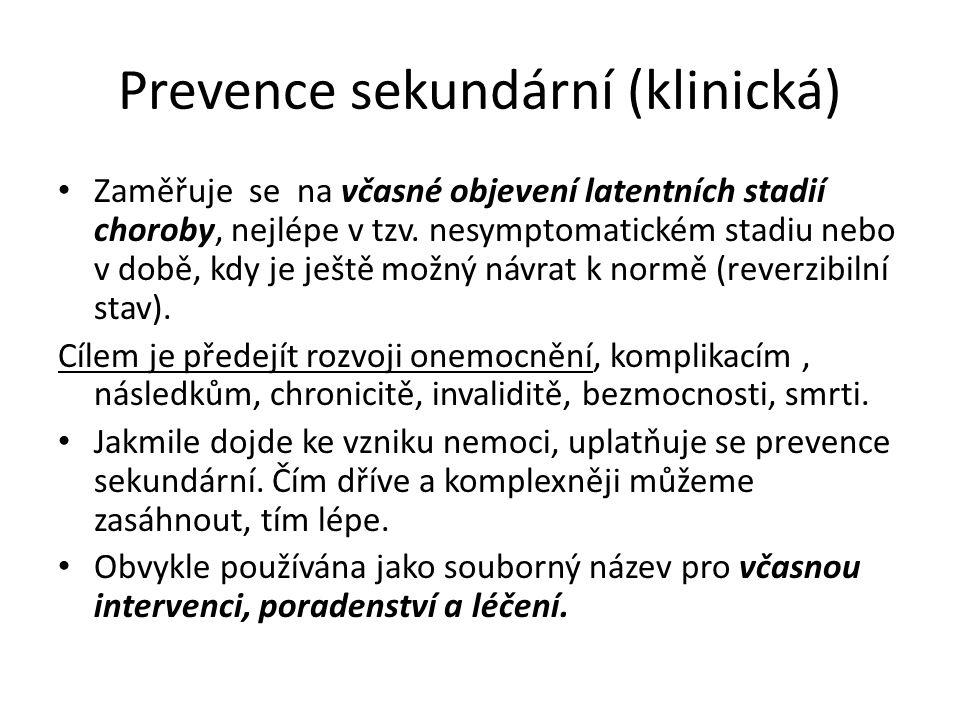 Prevence sekundární (klinická)