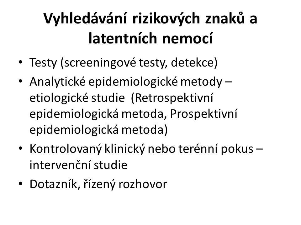 Vyhledávání rizikových znaků a latentních nemocí