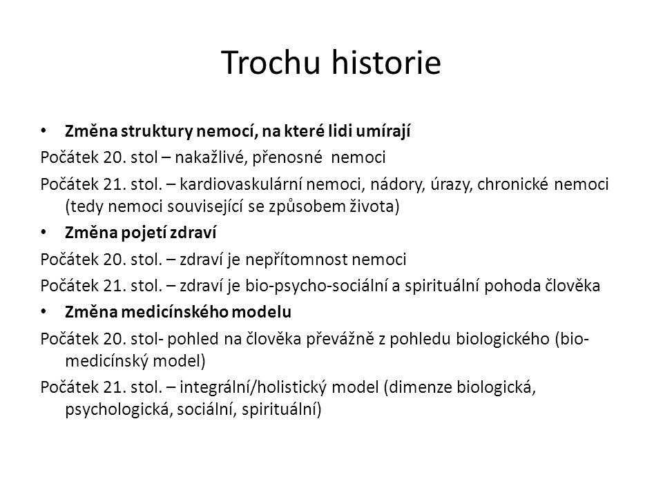 Trochu historie Změna struktury nemocí, na které lidi umírají