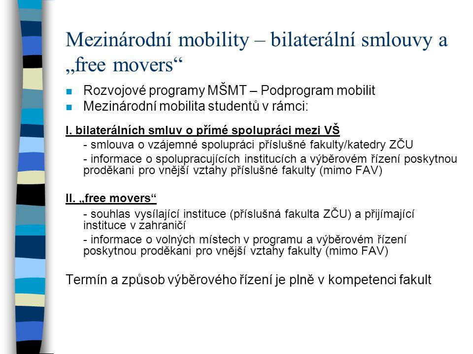 """Mezinárodní mobility – bilaterální smlouvy a """"free movers"""