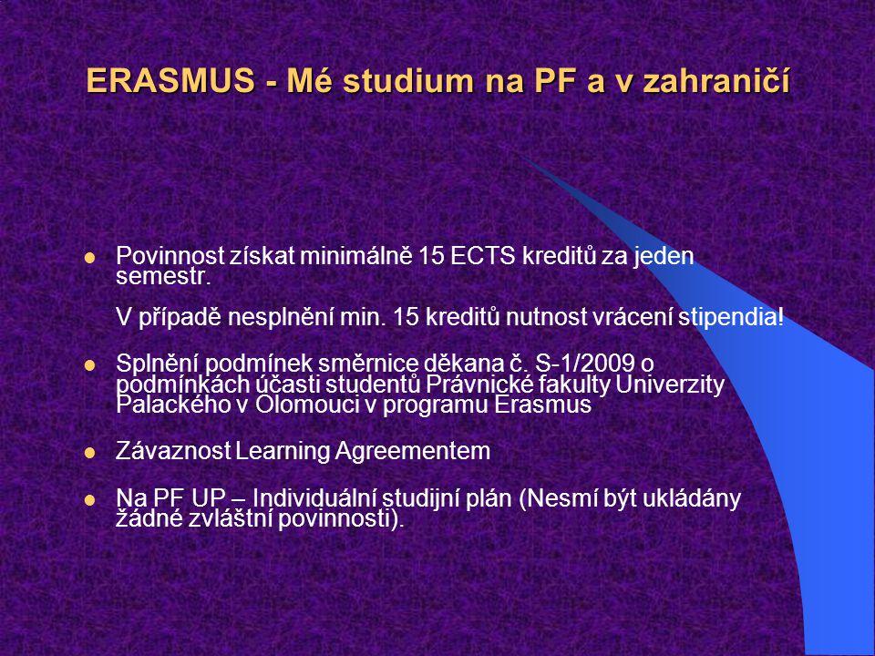 ERASMUS - Mé studium na PF a v zahraničí
