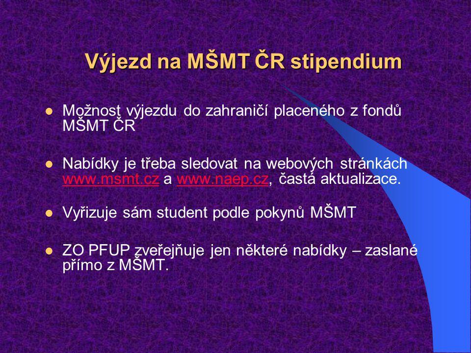 Výjezd na MŠMT ČR stipendium
