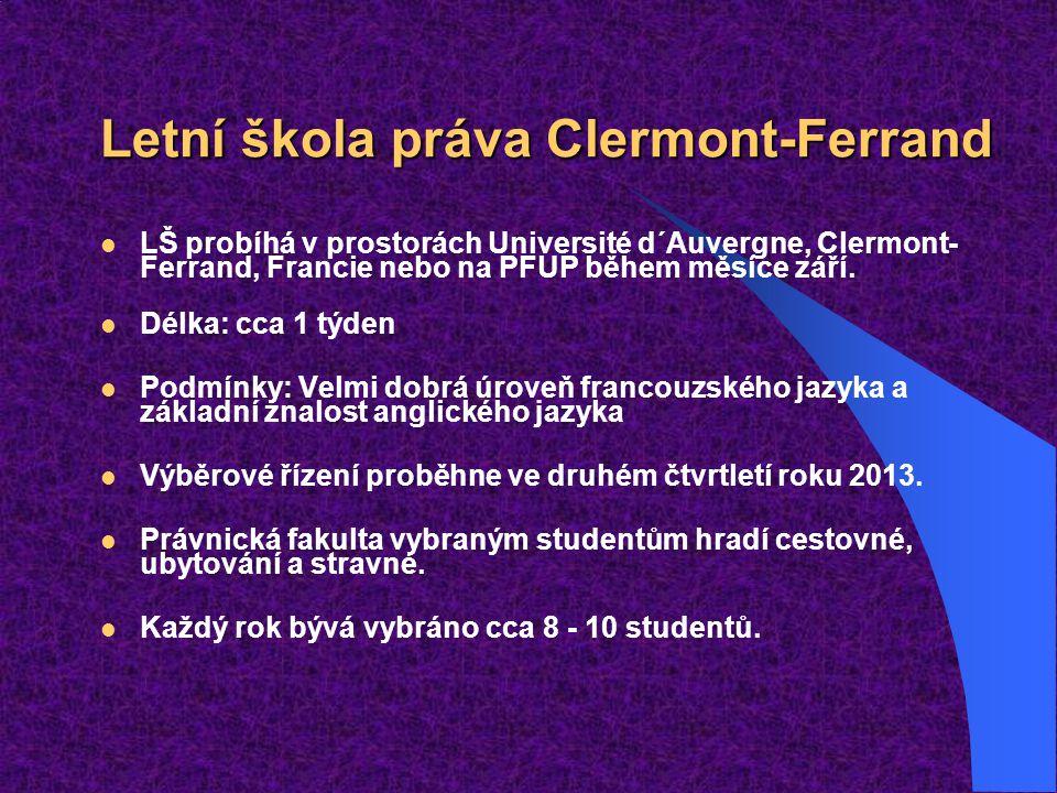Letní škola práva Clermont-Ferrand