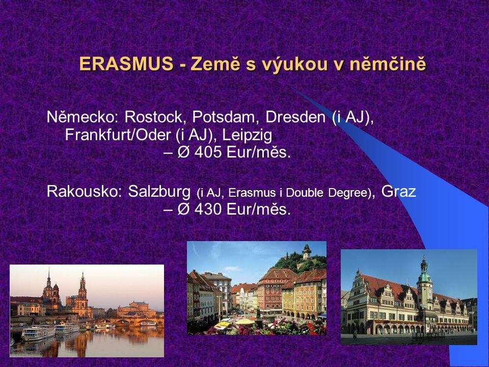 ERASMUS - Země s výukou v němčině