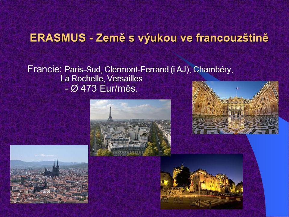ERASMUS - Země s výukou ve francouzštině