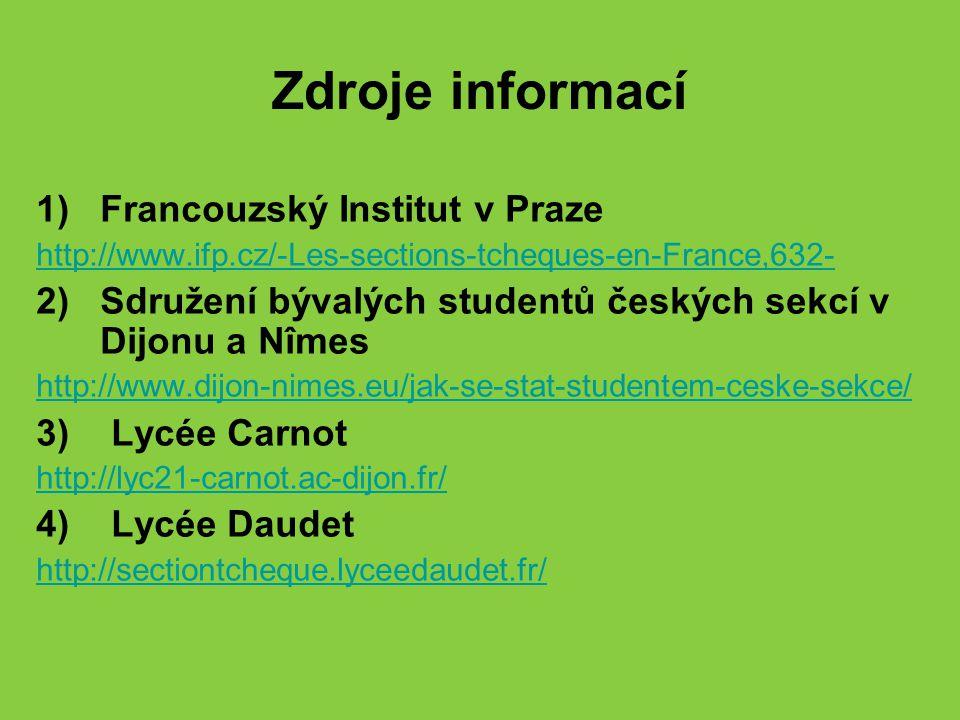 Zdroje informací Francouzský Institut v Praze