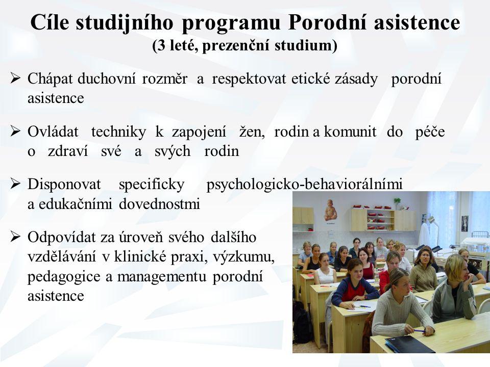 Cíle studijního programu Porodní asistence (3 leté, prezenční studium)