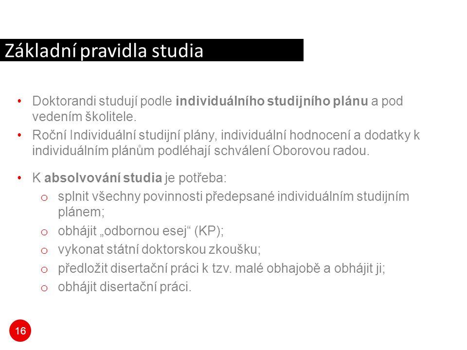Základní pravidla studia