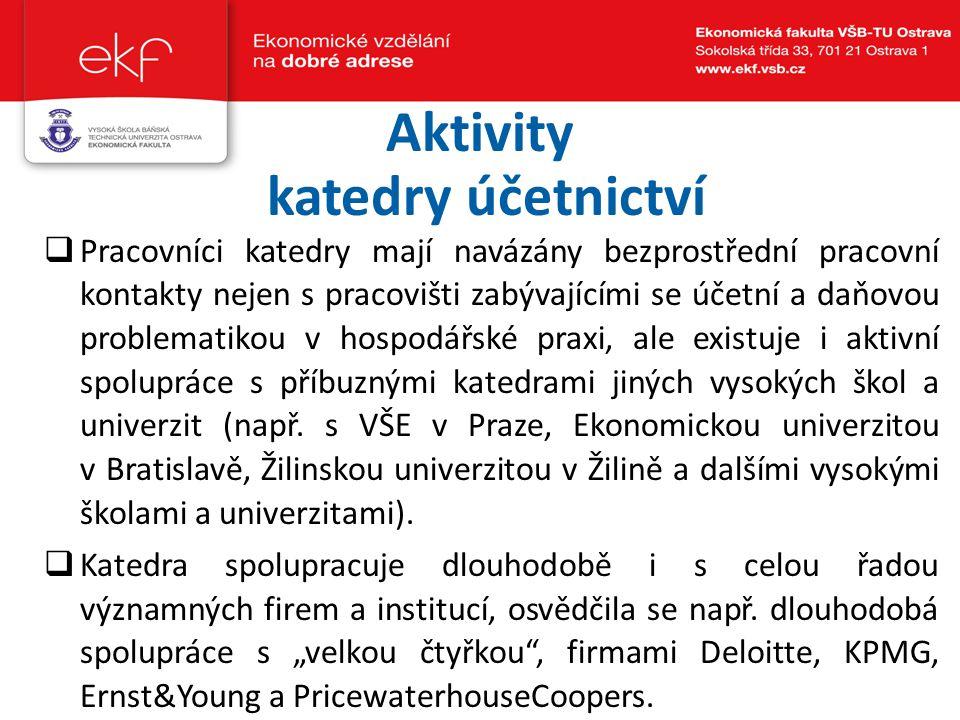 Aktivity katedry účetnictví