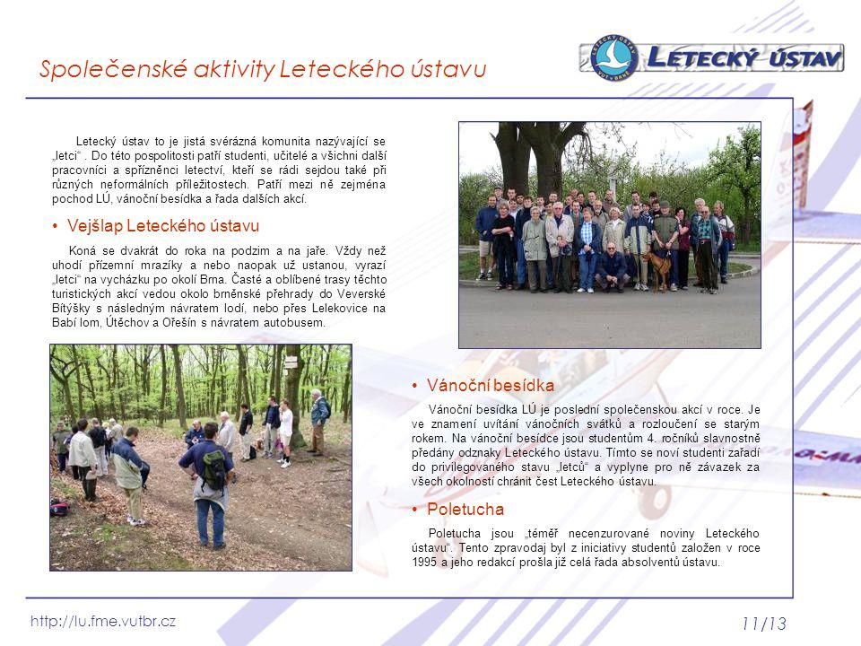Společenské aktivity Leteckého ústavu
