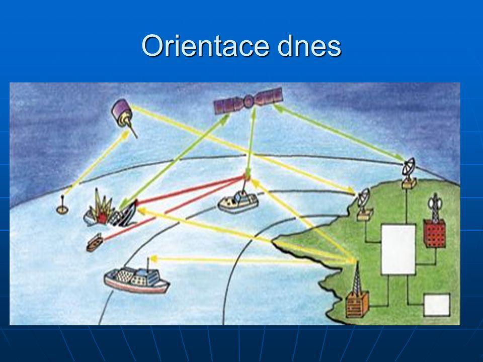 Orientace dnes Dnes není orientace na moři závislá na kompasech