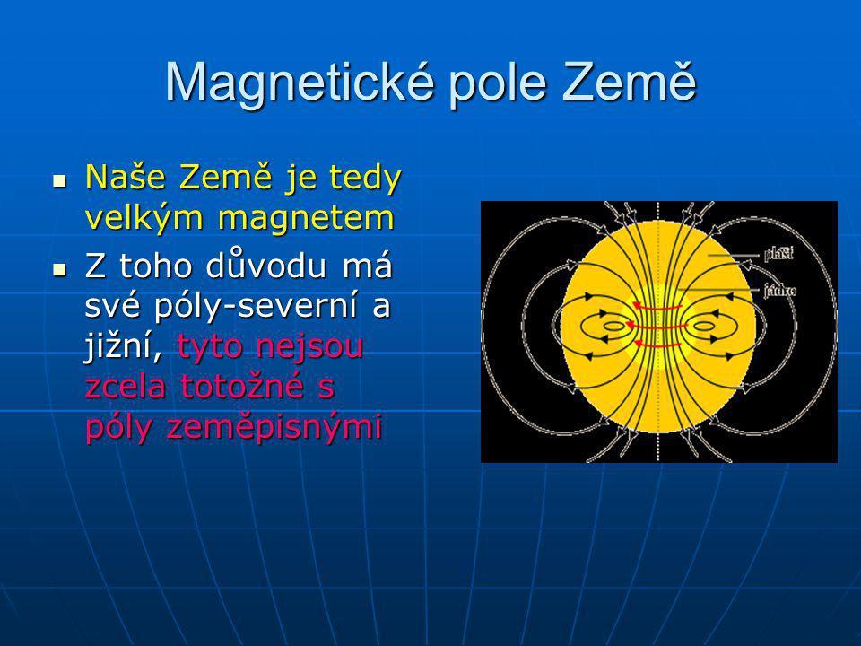 Magnetické pole Země Naše Země je tedy velkým magnetem