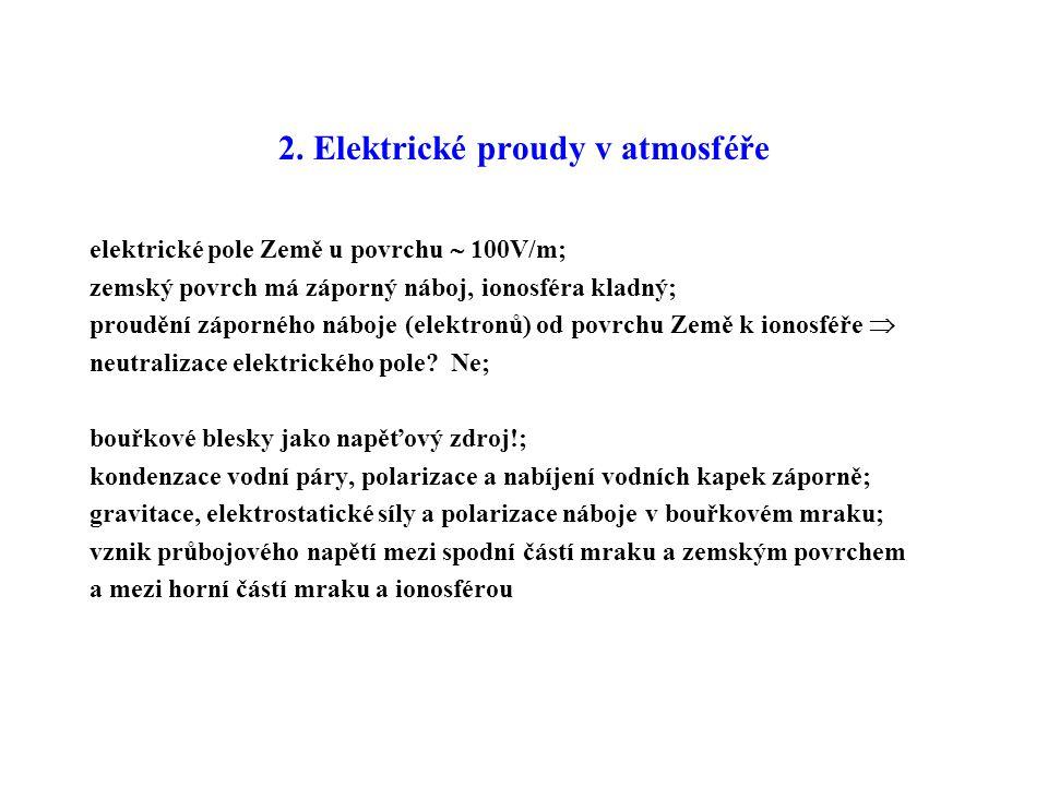 2. Elektrické proudy v atmosféře