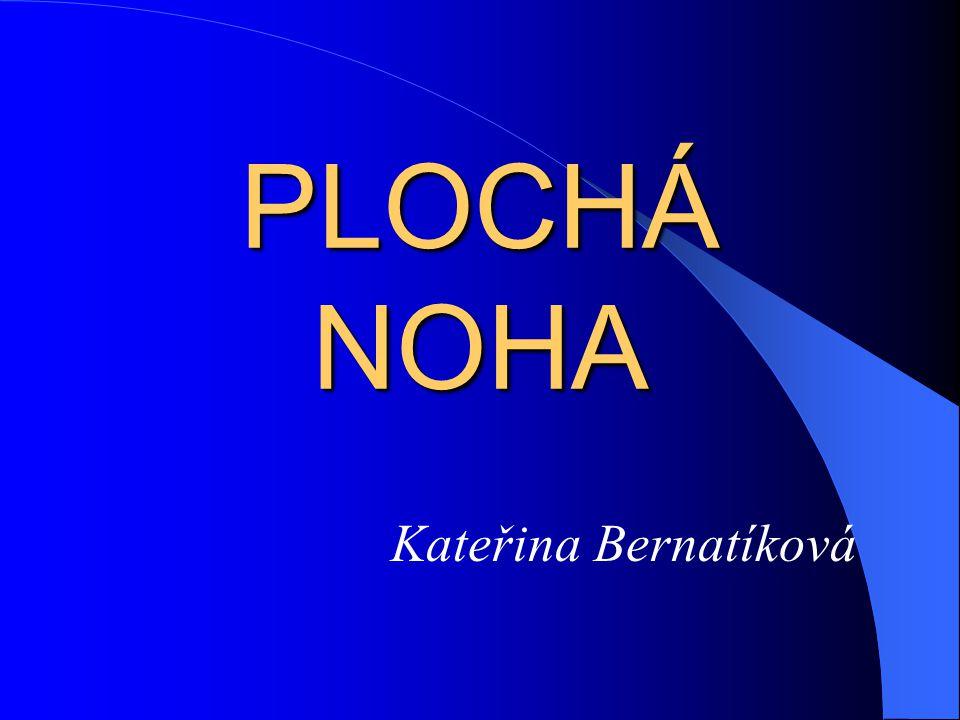 PLOCHÁ NOHA Kateřina Bernatíková