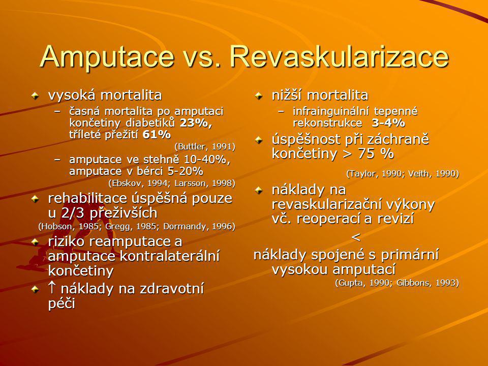 Amputace vs. Revaskularizace