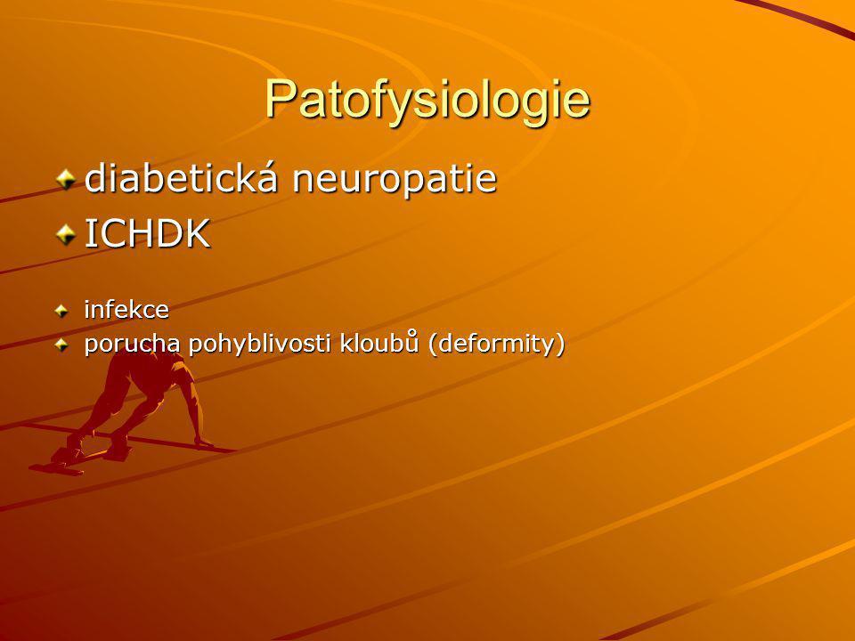 Patofysiologie diabetická neuropatie ICHDK infekce