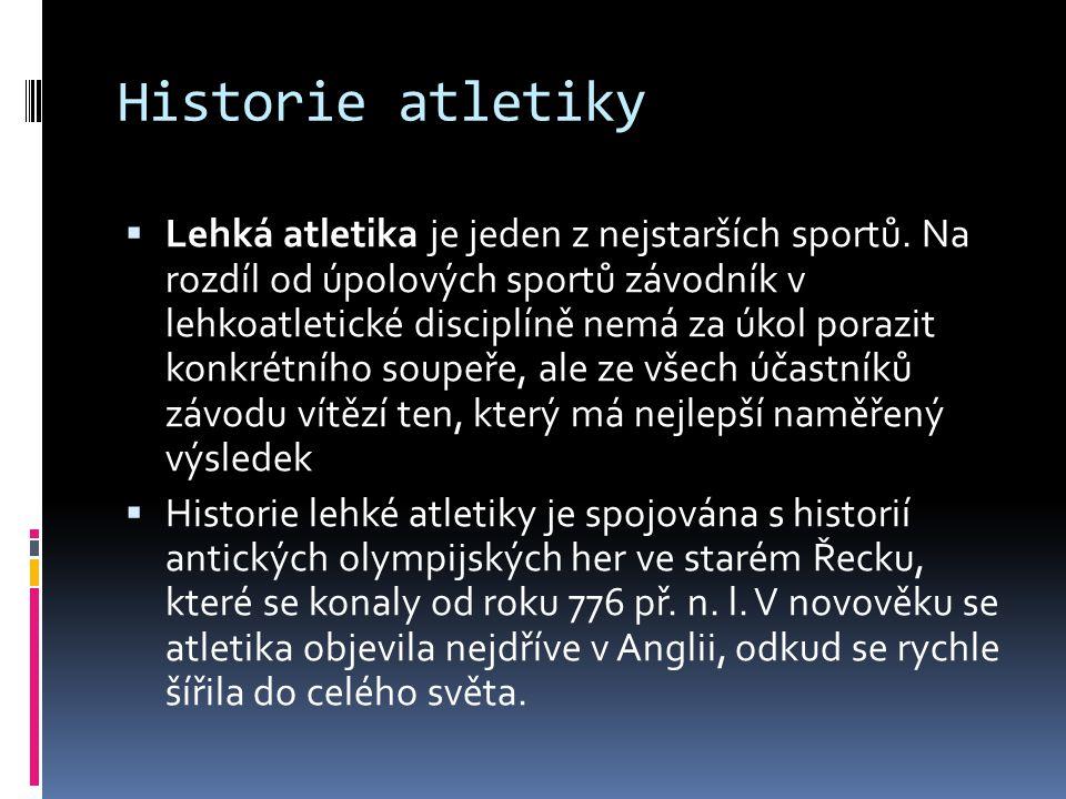 Historie atletiky
