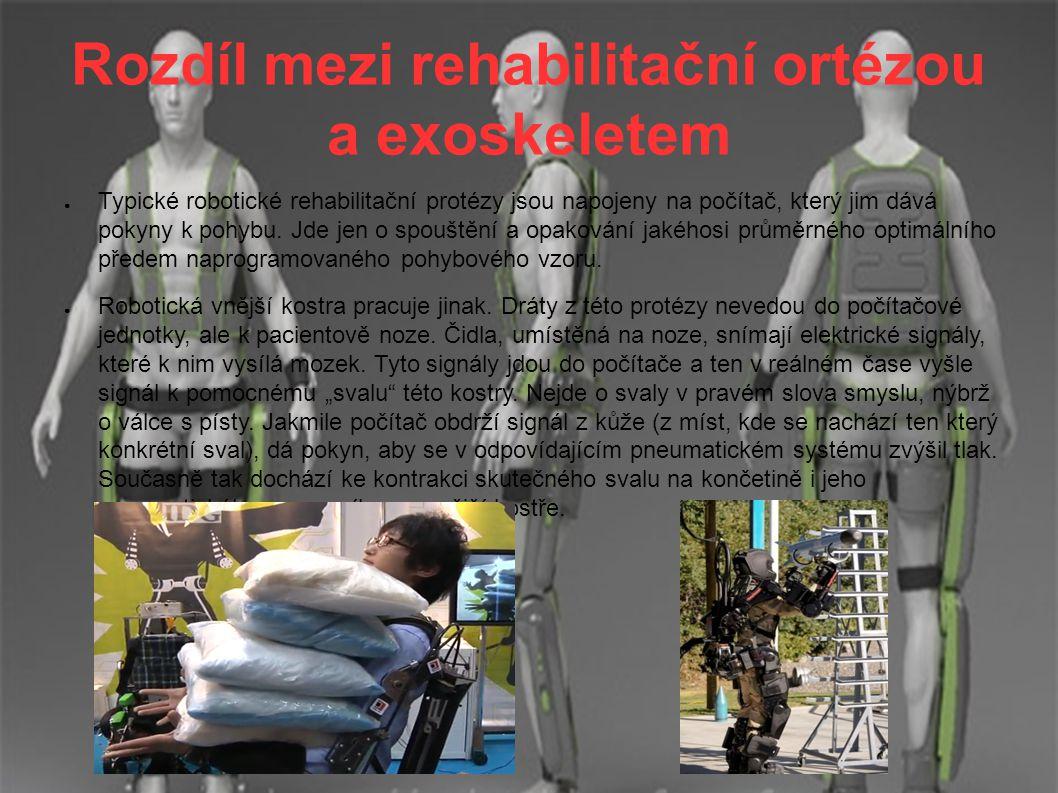 Rozdíl mezi rehabilitační ortézou a exoskeletem