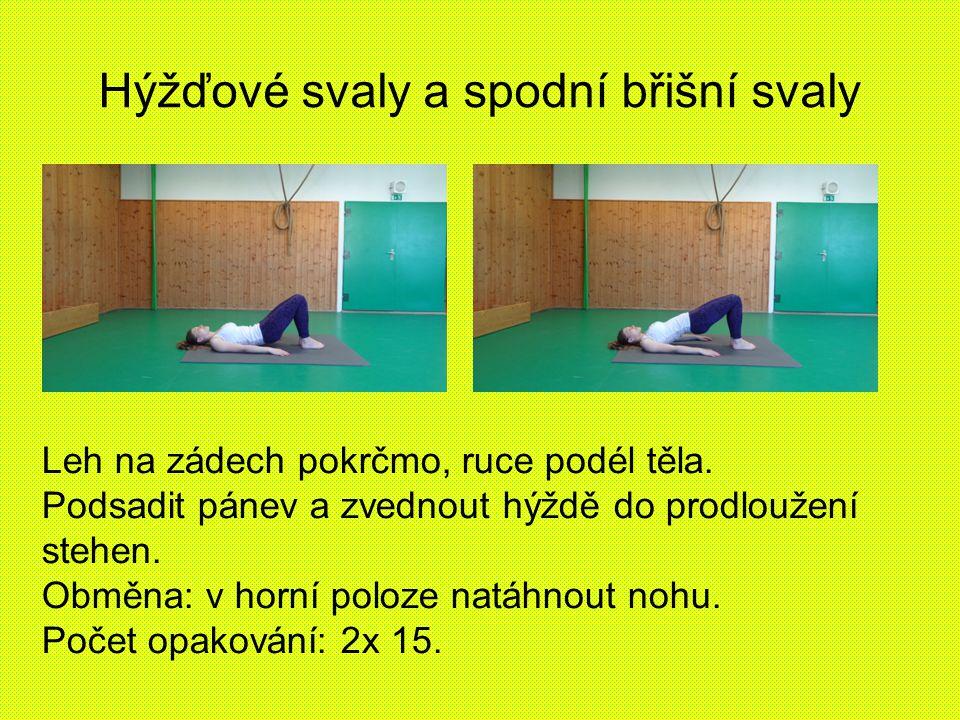 Hýžďové svaly a spodní břišní svaly