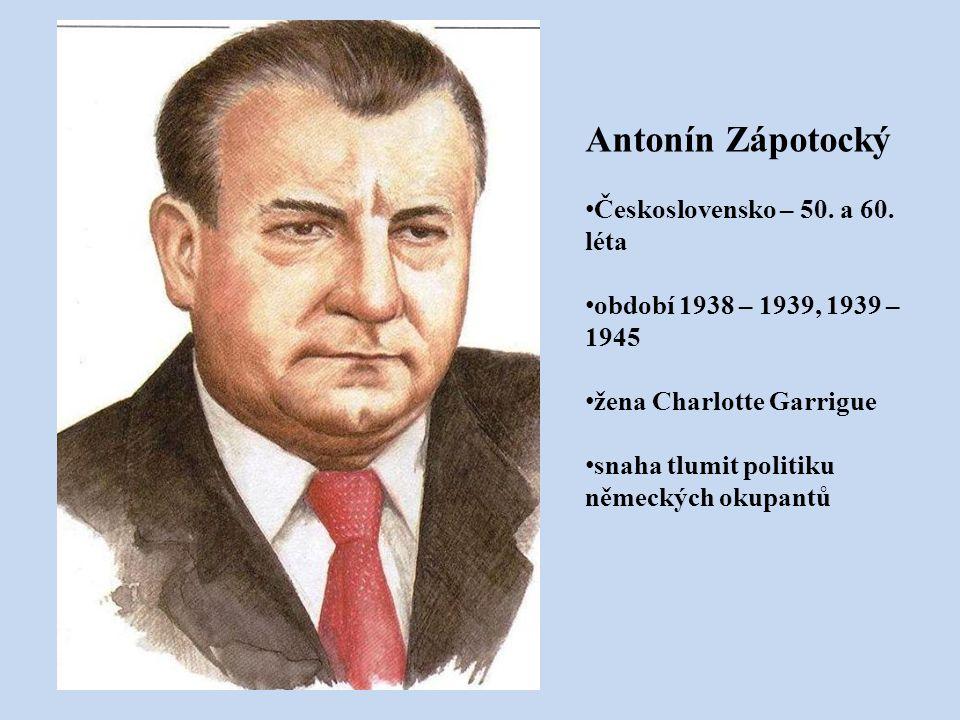 Antonín Zápotocký Československo – 50. a 60. léta