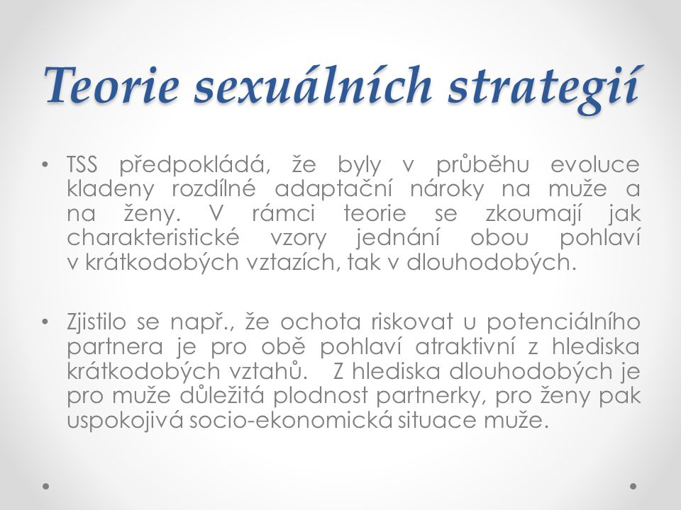 Teorie sexuálních strategií