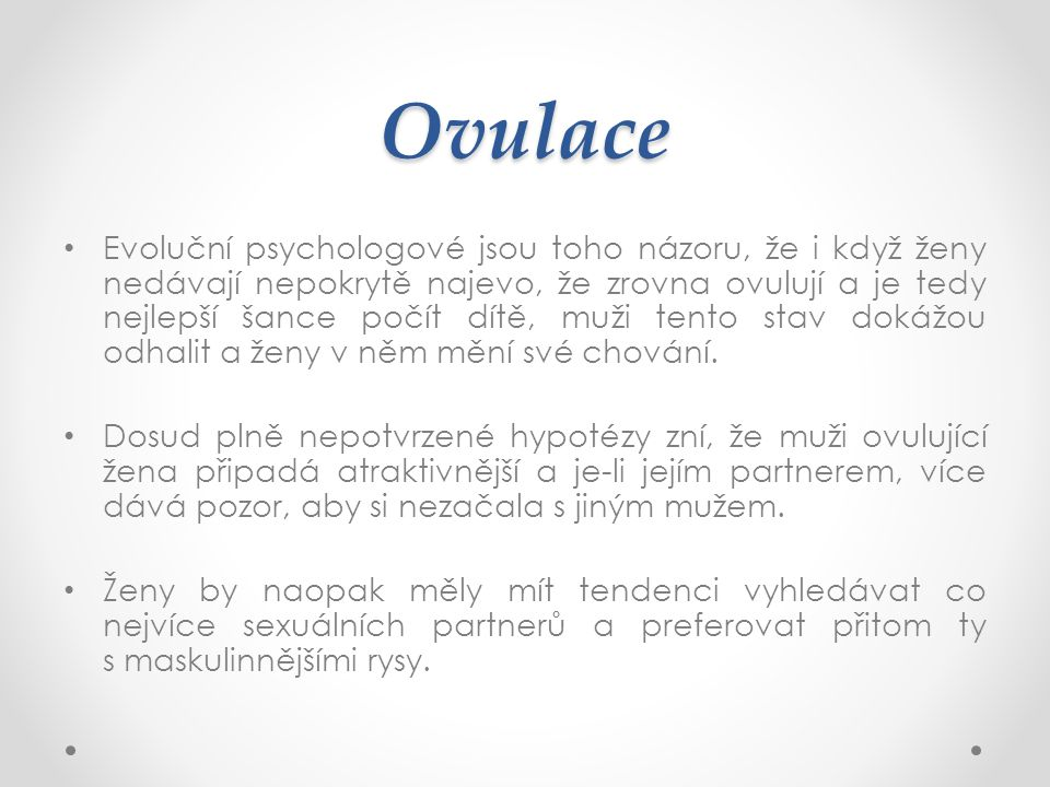 Ovulace