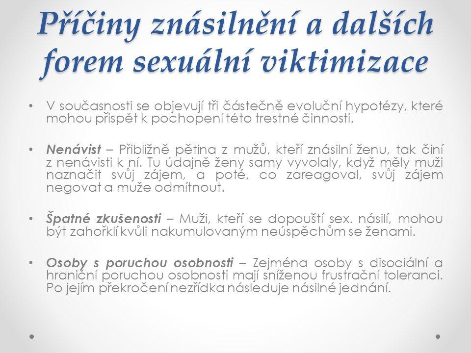 Příčiny znásilnění a dalších forem sexuální viktimizace