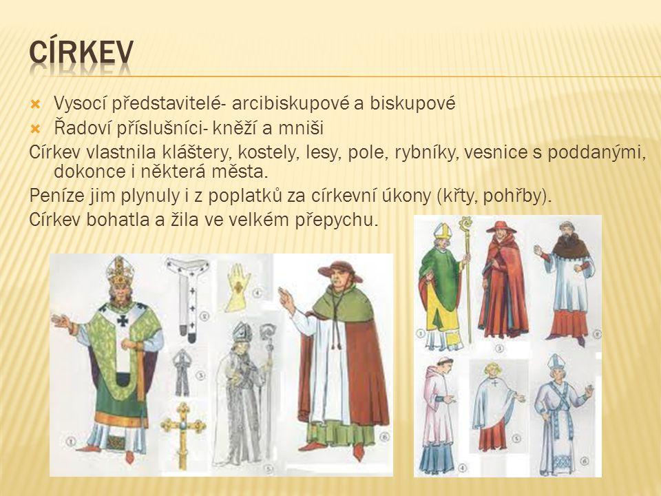 církev Vysocí představitelé- arcibiskupové a biskupové