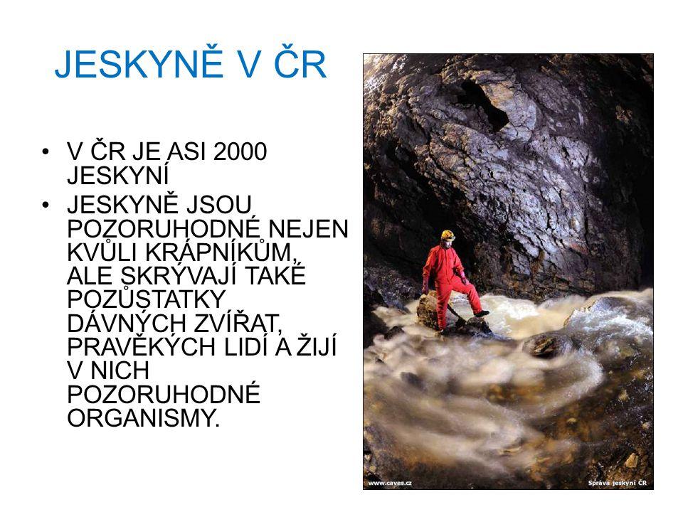 JESKYNĚ V ČR V ČR JE ASI 2000 JESKYNÍ