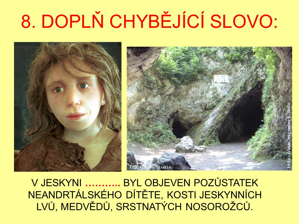 8. DOPLŇ CHYBĚJÍCÍ SLOVO: