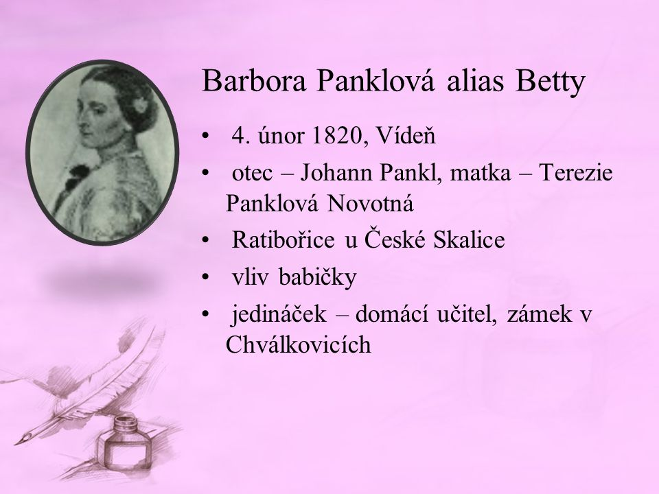 Barbora Panklová alias Betty