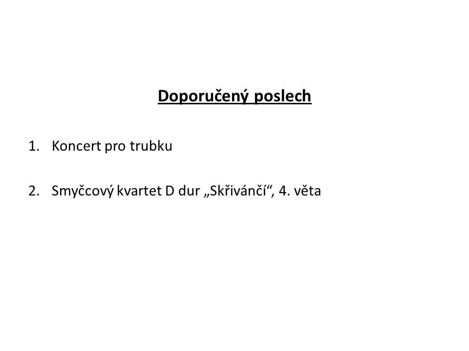Doporučený poslech Koncert pro trubku