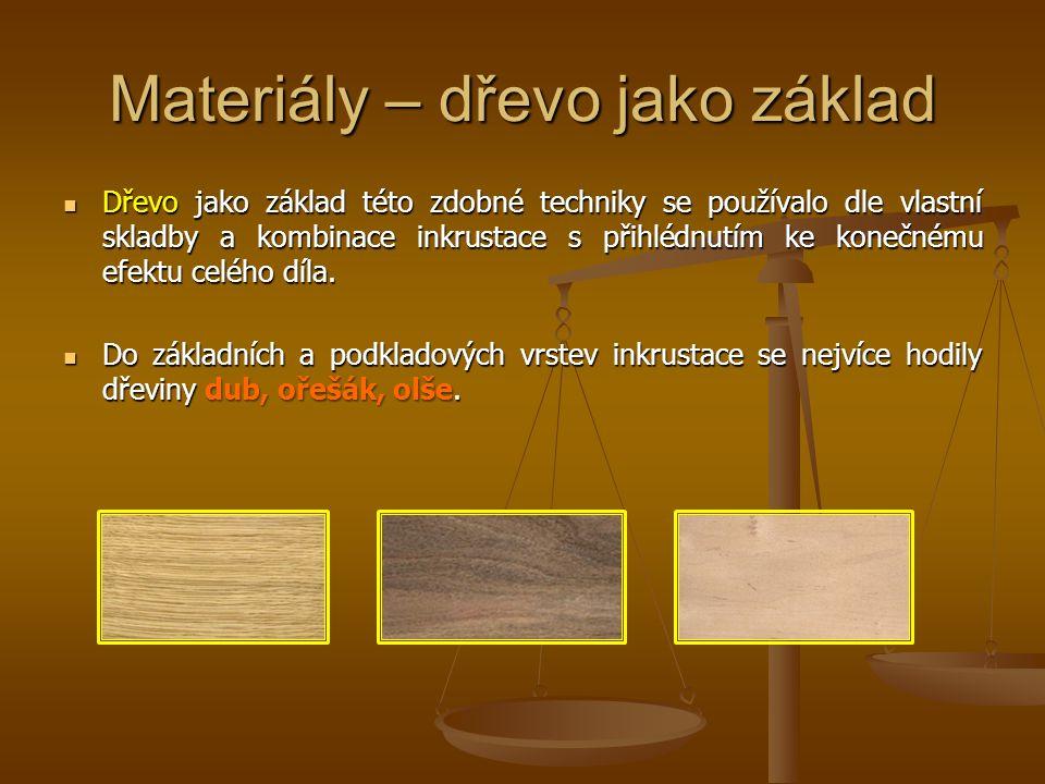 Materiály – dřevo jako základ