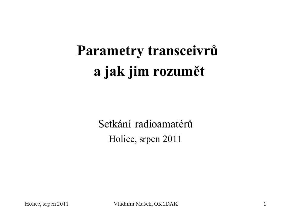 Parametry transceivrů a jak jim rozumět