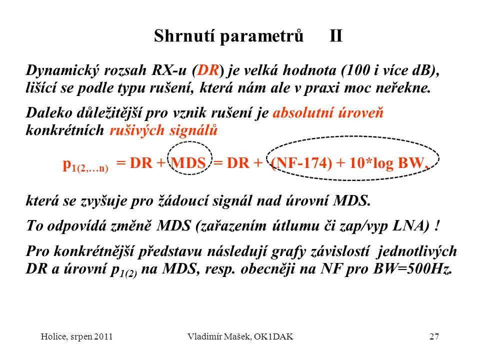 Shrnutí parametrů II