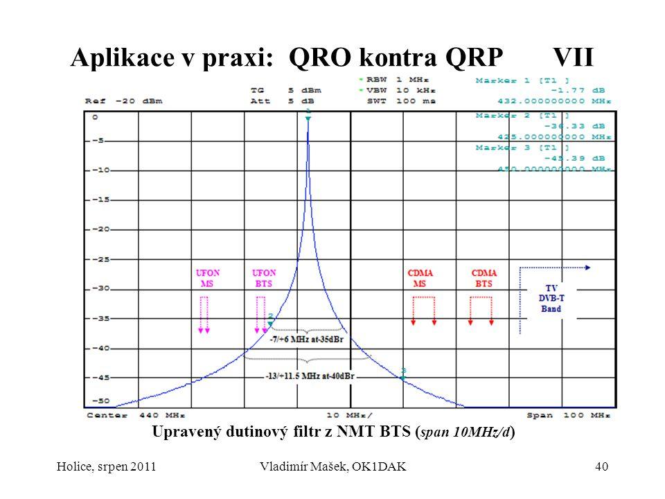 Aplikace v praxi: QRO kontra QRP VII