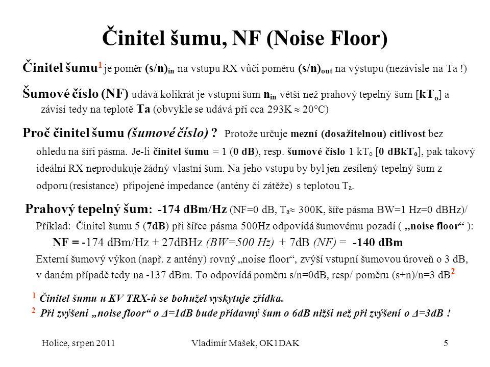Činitel šumu, NF (Noise Floor)