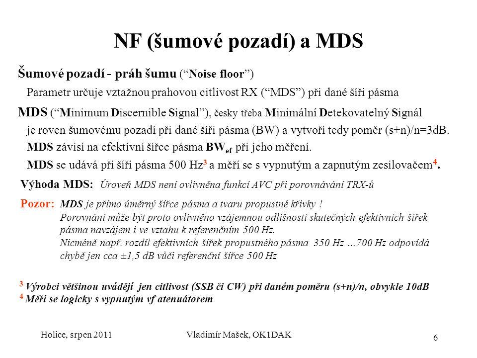 NF (šumové pozadí) a MDS