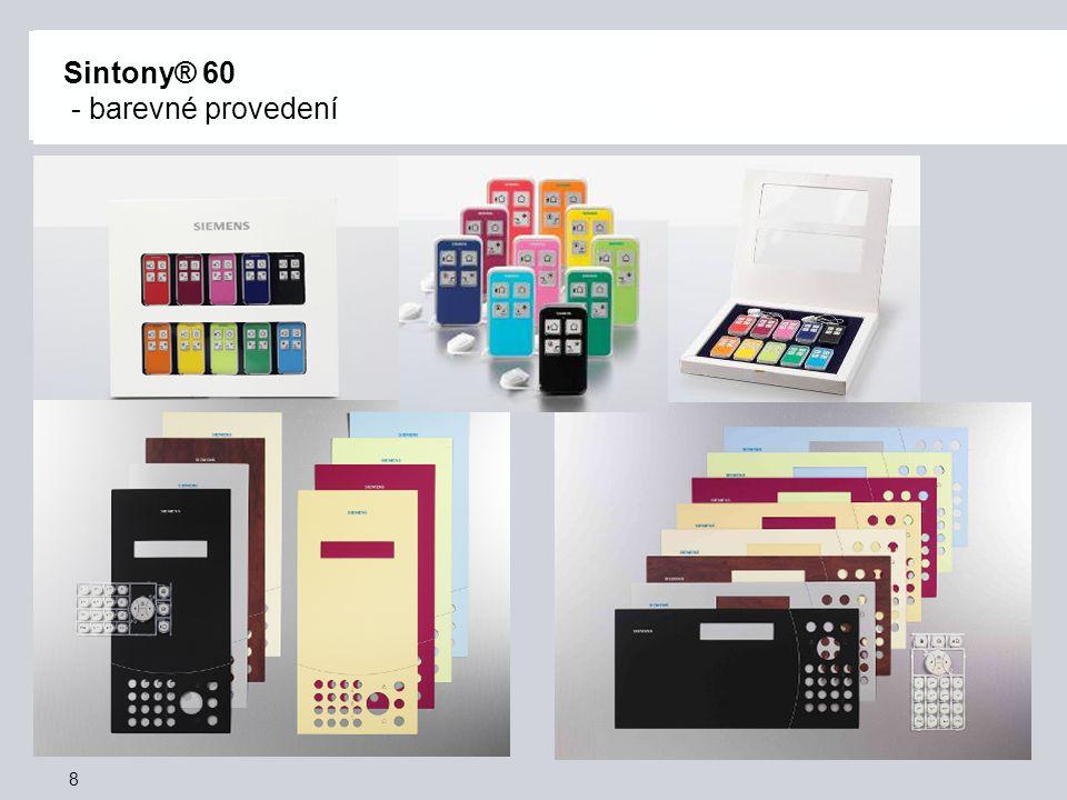 Sintony® 60 - barevné provedení