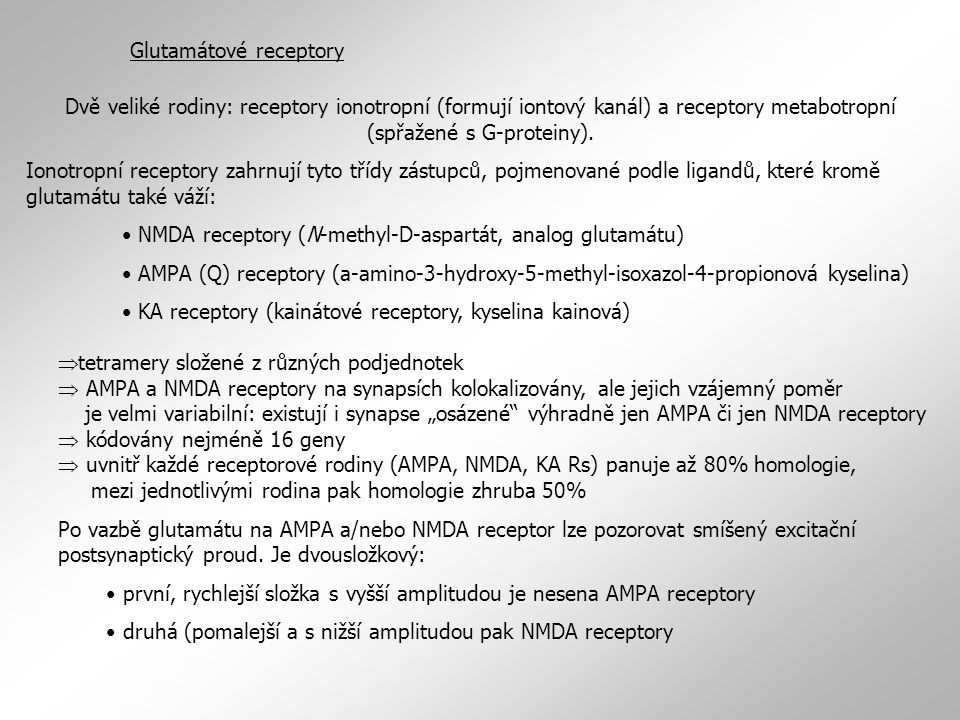 Glutamátové receptory