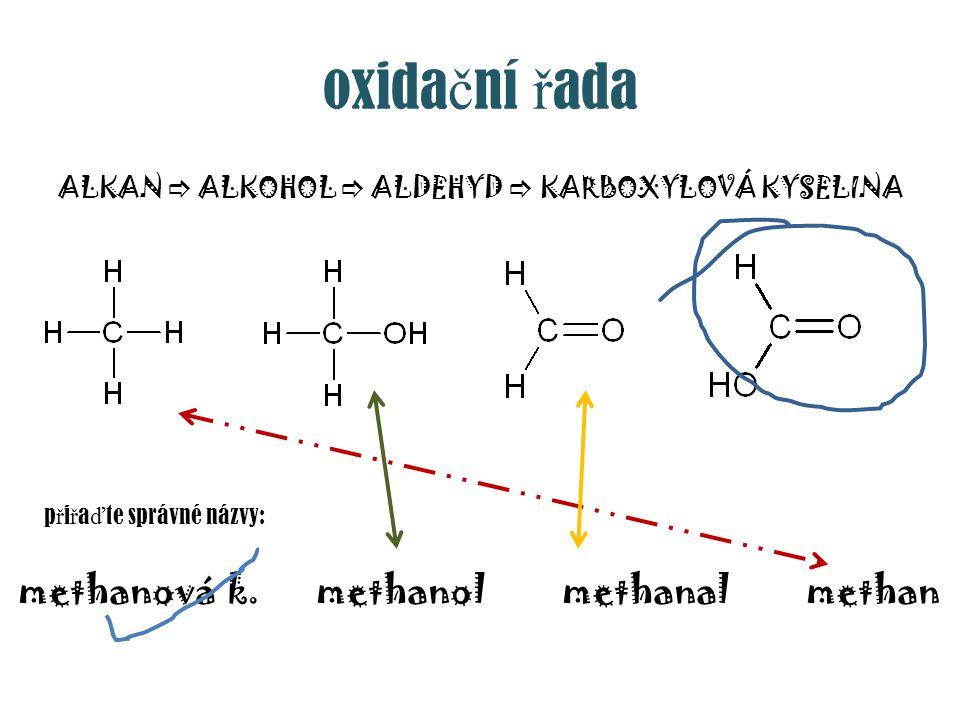 ALKAN  ALKOHOL  ALDEHYD  KARBOXYLOVÁ KYSELINA