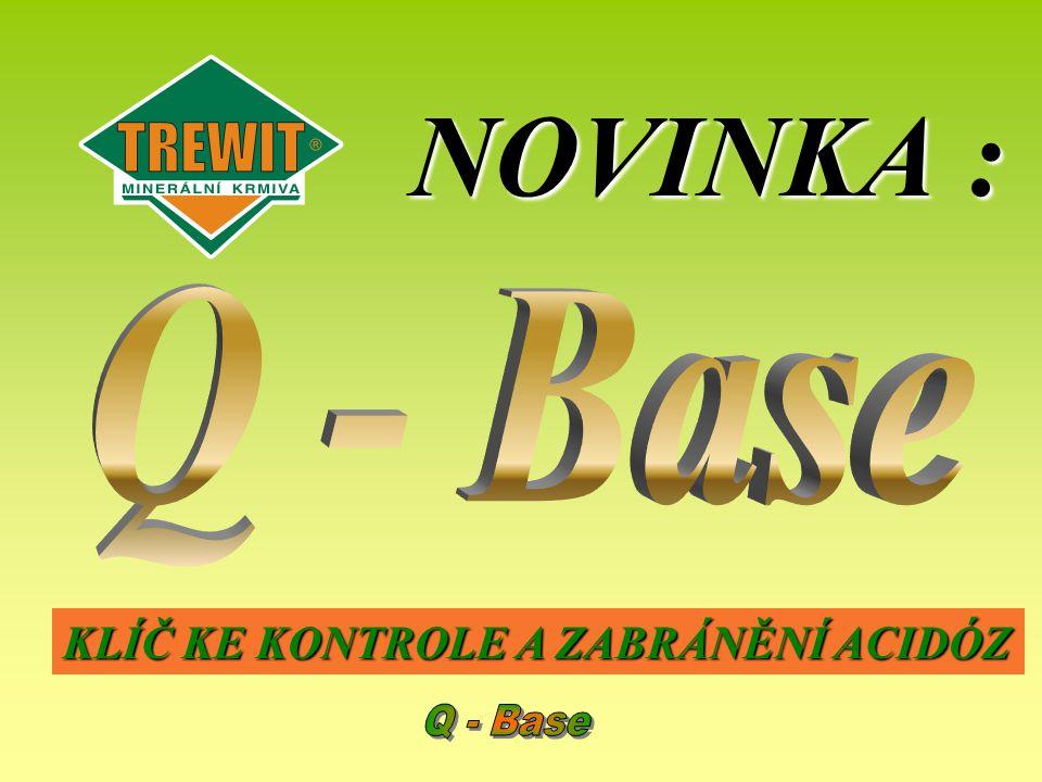 NOVINKA : Q - Base KLÍČ KE KONTROLE A ZABRÁNĚNÍ ACIDÓZ Q - Base