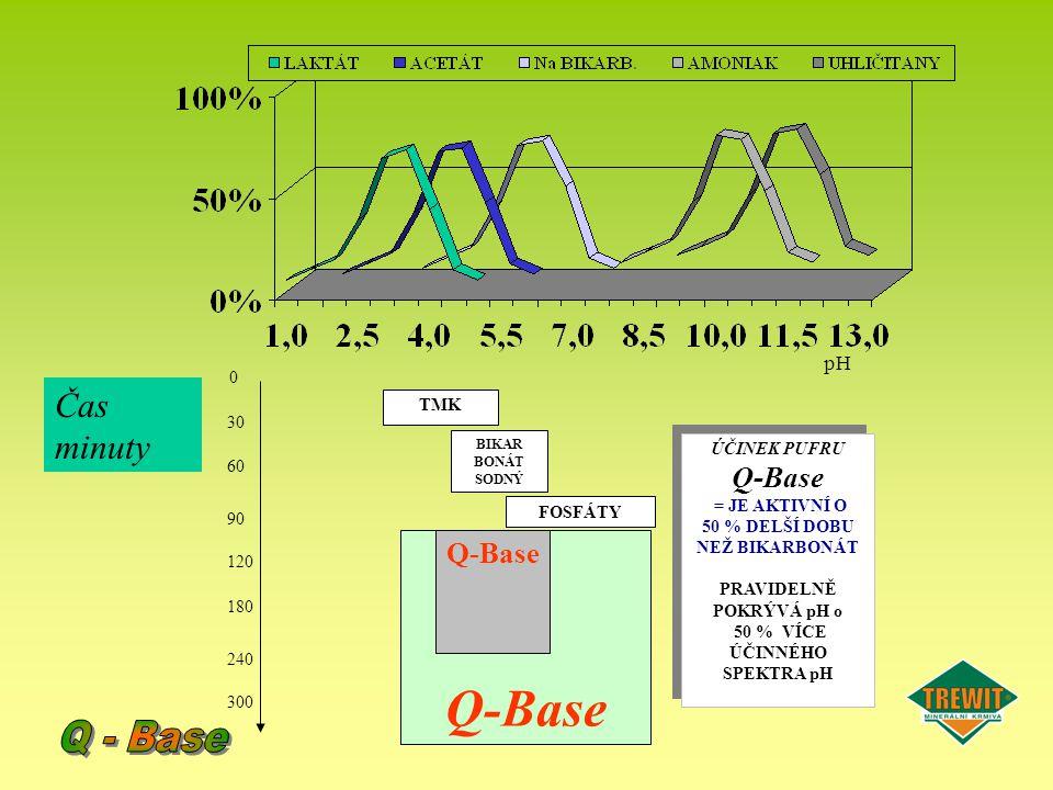 Q-Base Q - Base Čas minuty Q-Base Q-Base pH 90 120 240 300 30 60 180